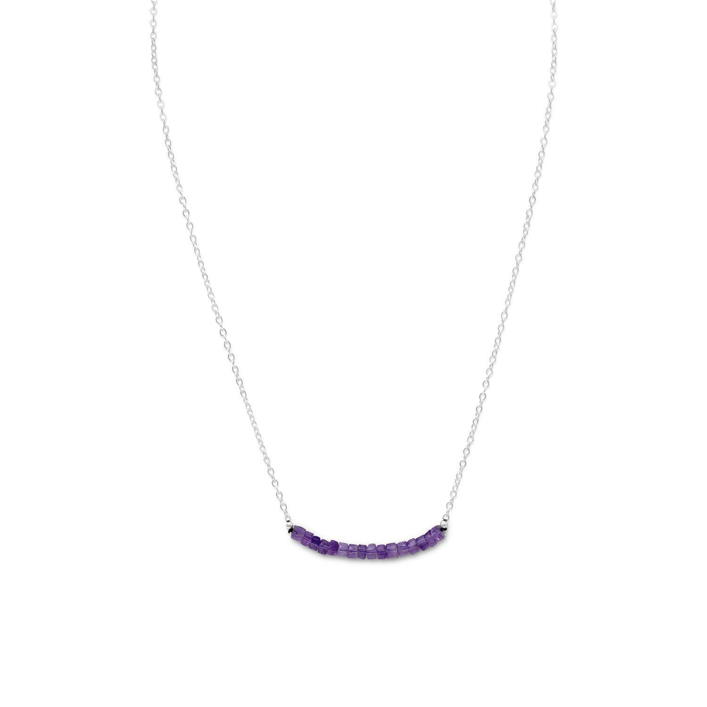 Amethyst Bead Necklace – February Birthstone