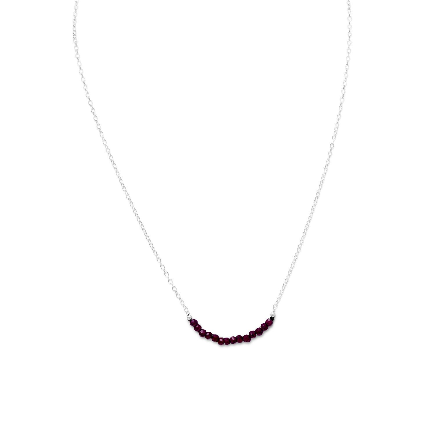 Faceted Garnet Bead Necklace – January Birthstone