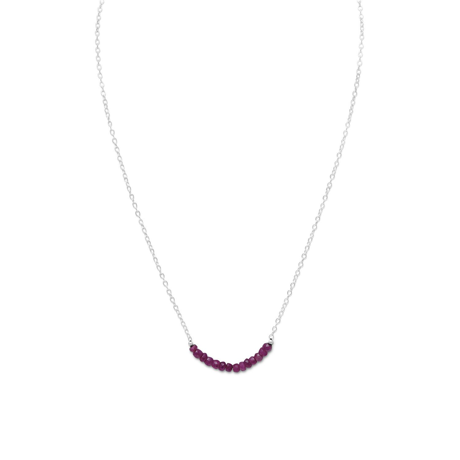 Faceted Corundum Bead Necklace – July Birthstone