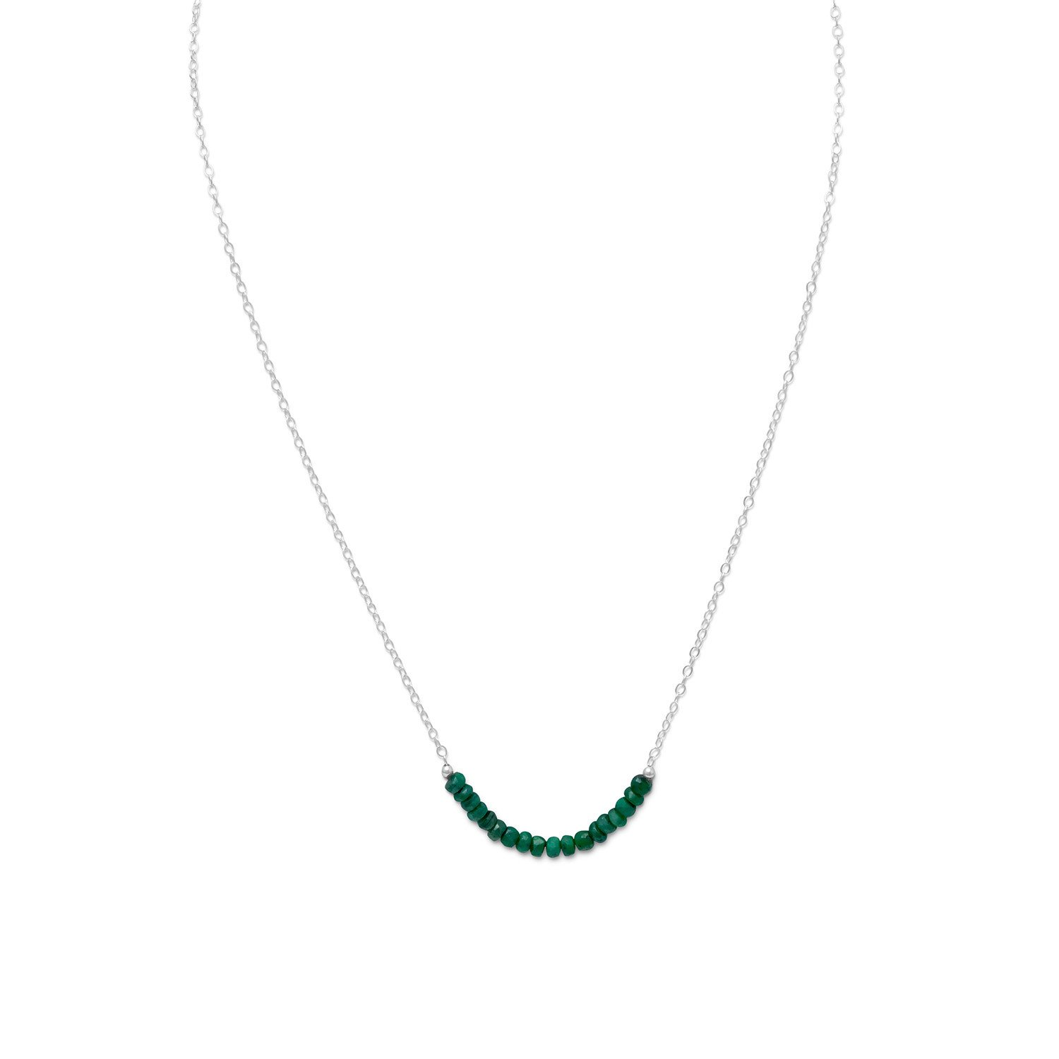 Faceted Beryl Bead Necklace – May Birthstone