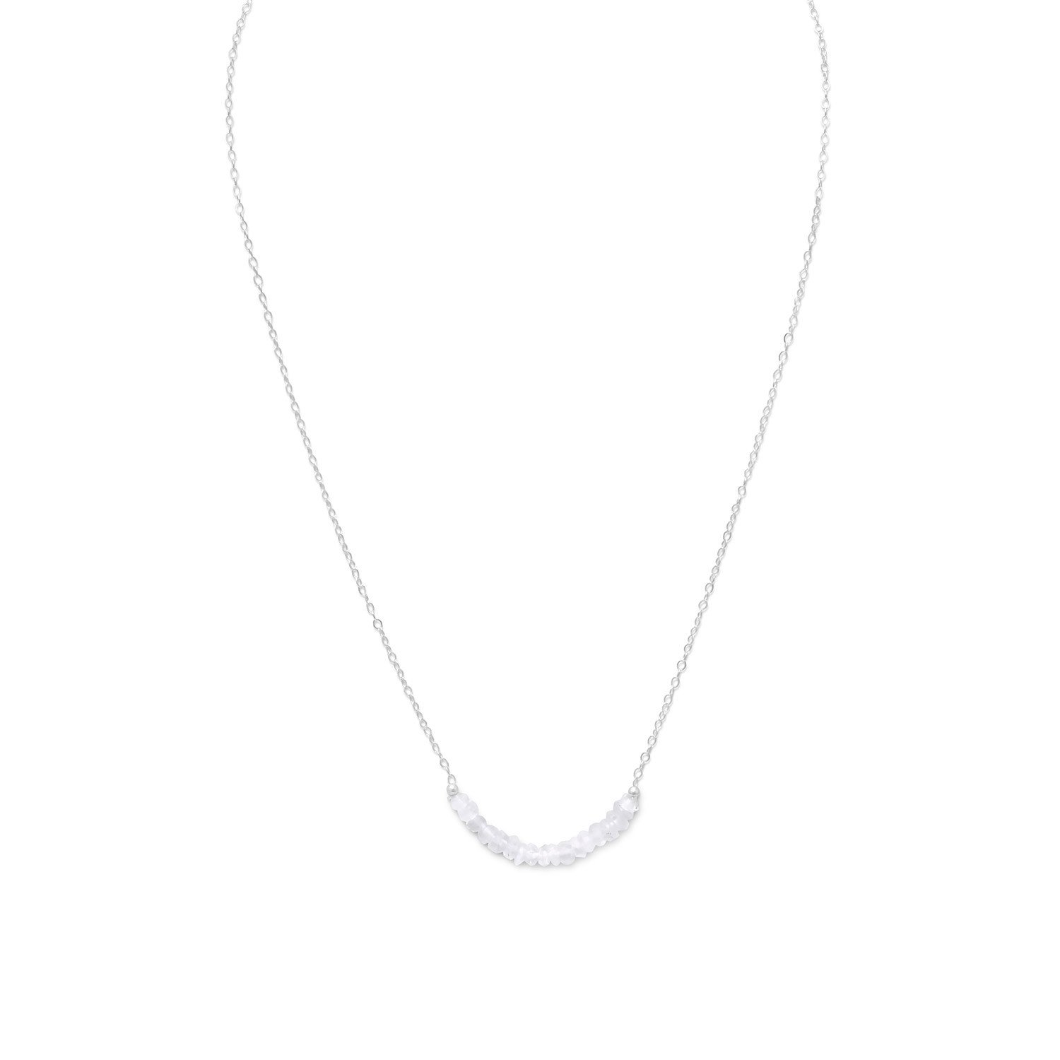 Faceted Rainbow Moonstone Bead Necklace – October Birthstone
