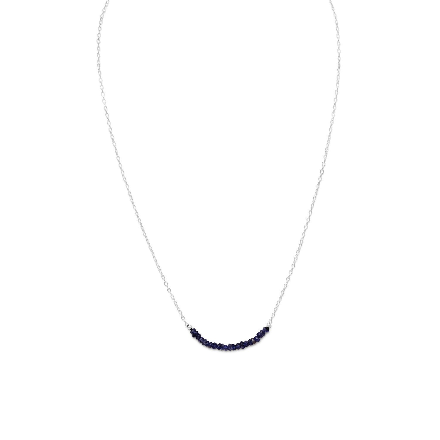 Faceted Iolite Bead Necklace – September Birthstone
