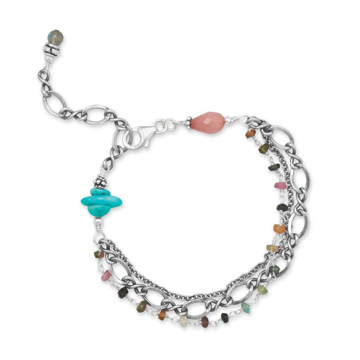 Baila Luna Oxidized Multistone Bracelet
