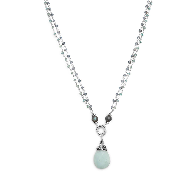 Baila Luna Mint Chocolate Drop Necklace