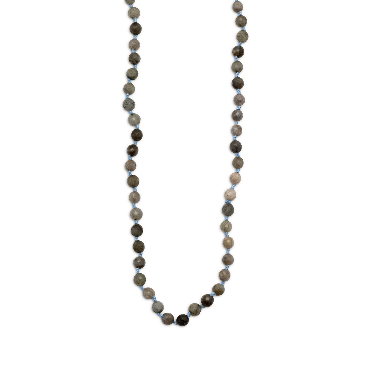 38″ Endless Knotted Labradorite Necklace