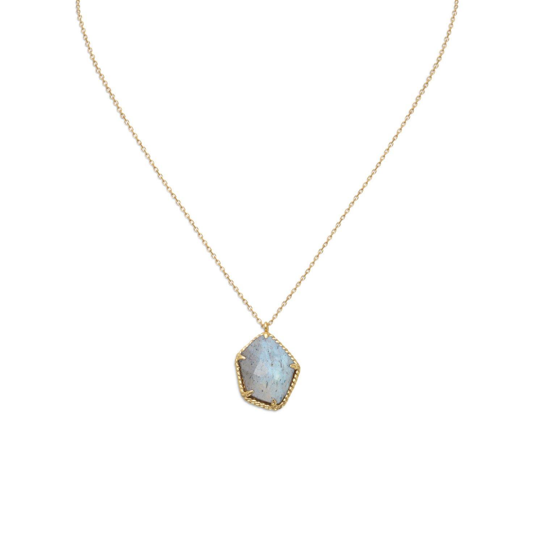 14 Karat Gold Plated Labradorite Necklace
