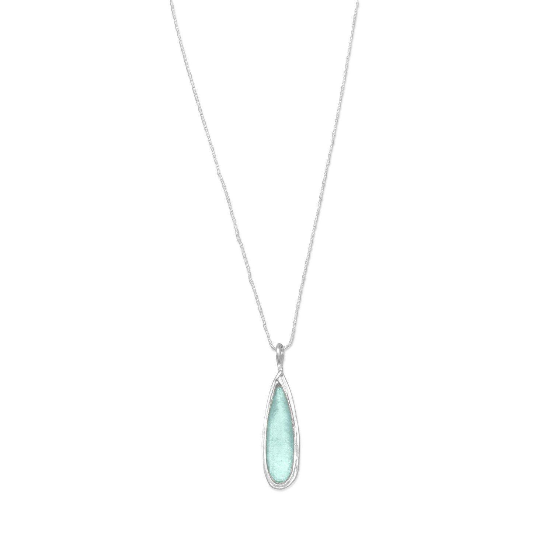 Ancient Roman Glass Pear Drop Necklace