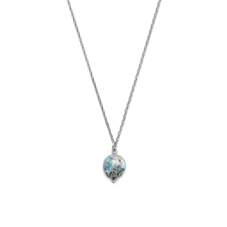 Oxidized Ancient Roman Glass Necklace