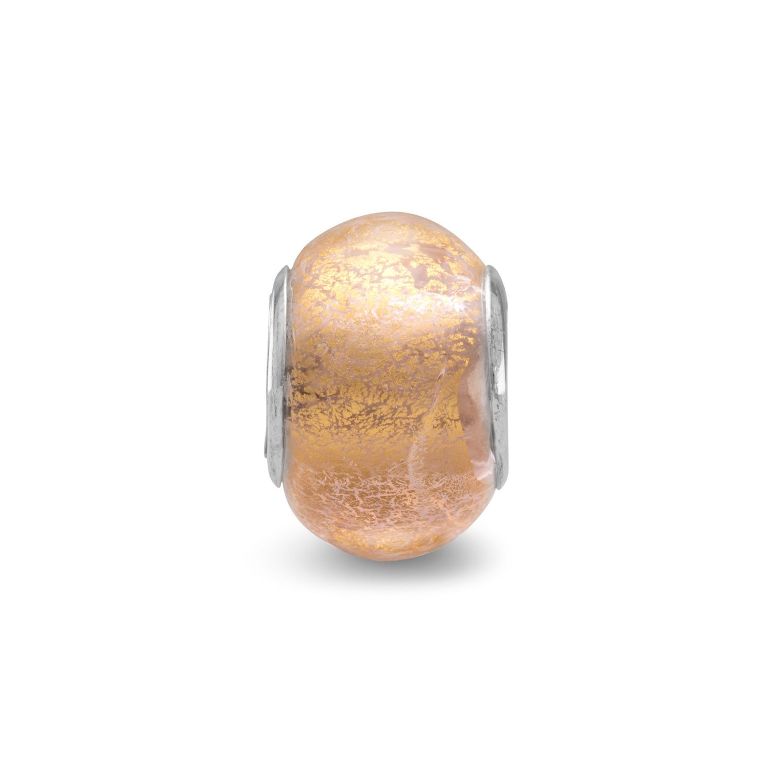 Champagne Foil Glass Bead
