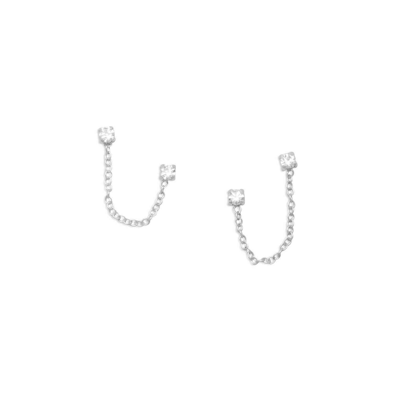 Double Post Crystal Earrings