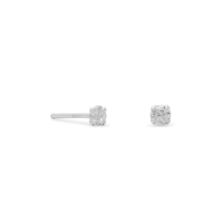3mm CZ Stud Earrings