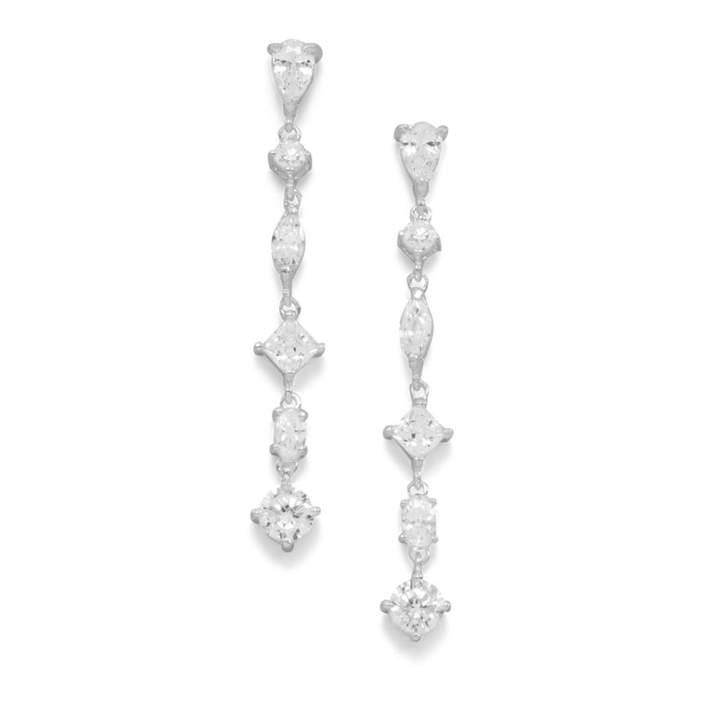 Pear/Round/Diamond/Marquise Shape CZ Post Earrings