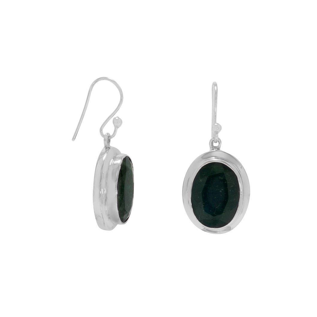Oval Beryl French Wire Earrings