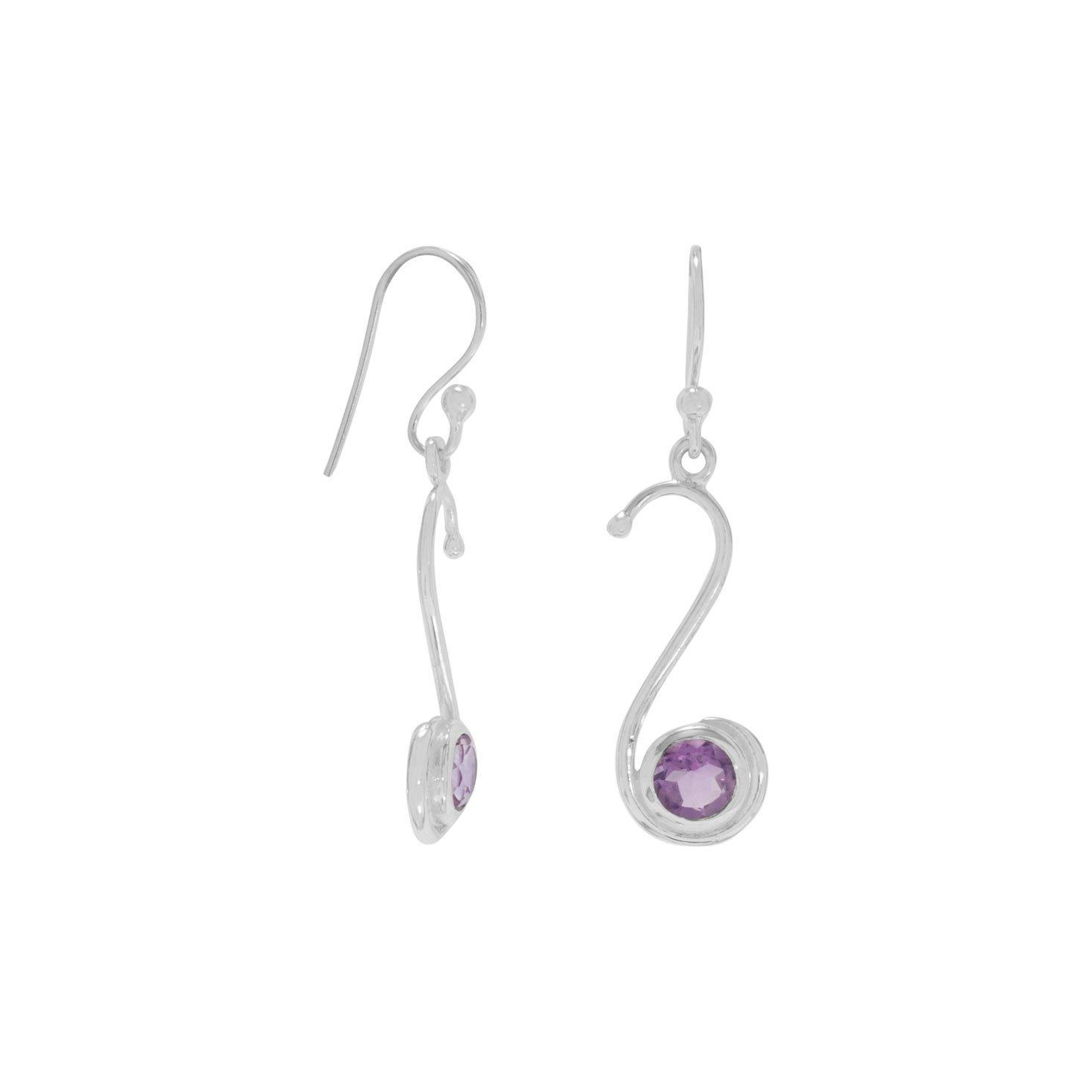S Design Amethyst Earrings