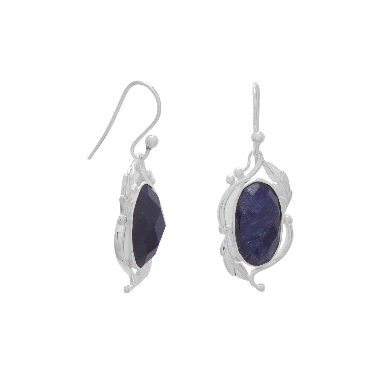 Oval Corundum Earrings