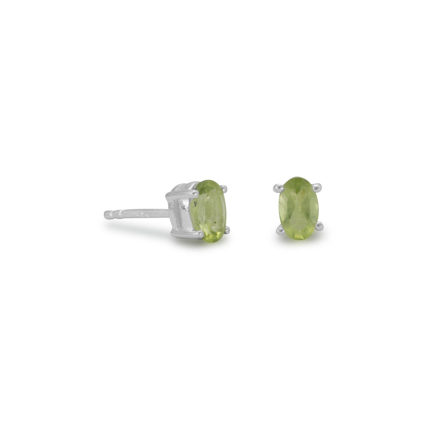 Oval Peridot Earrings