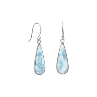 Pear Shape Larimar Earrings