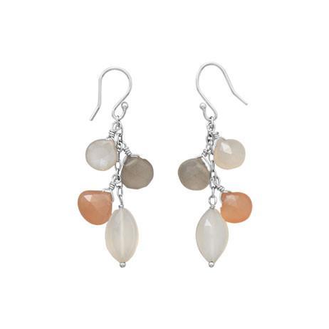 Multicolor Moonstone Drop Earrings
