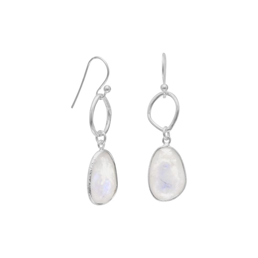 Rainbow Moonstone Drop Earrings