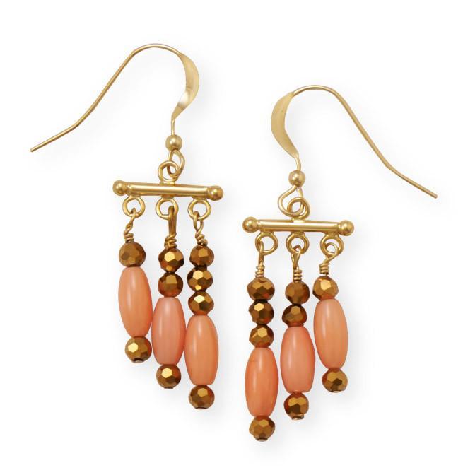 Just Peachy Coral Earrings