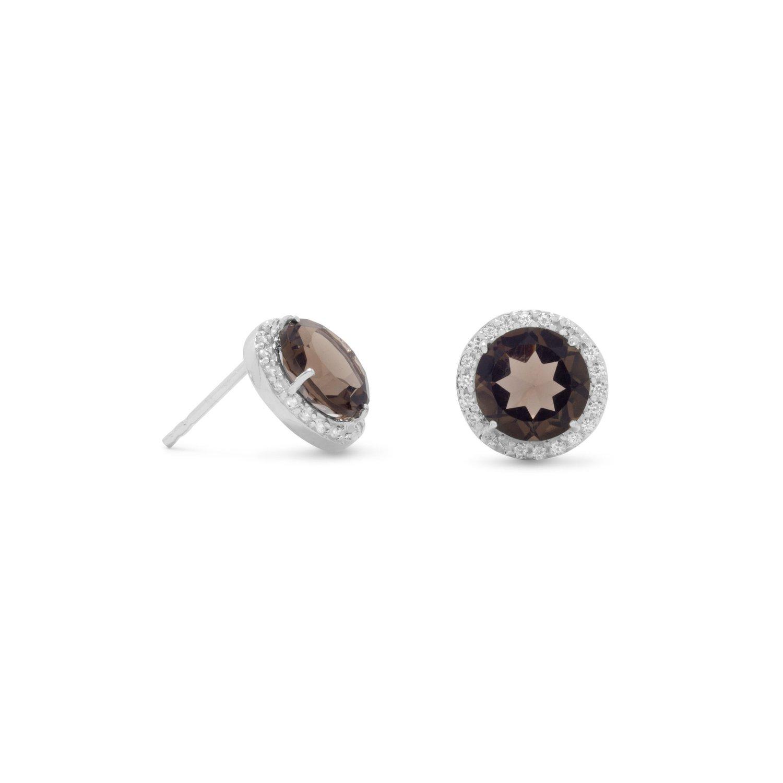 Smoky Quartz Espresso Earrings