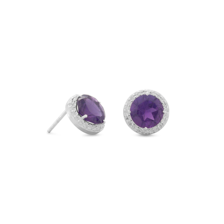 Amethyst Spritzer Earrings