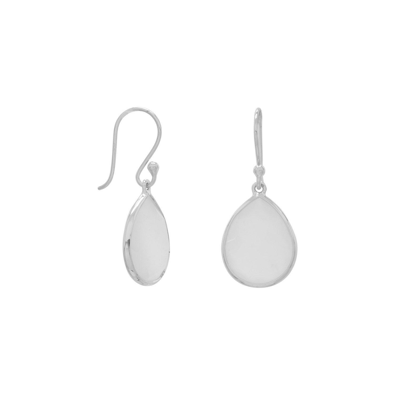 Pear Shape Freeform Faceted Moonstone Earrings