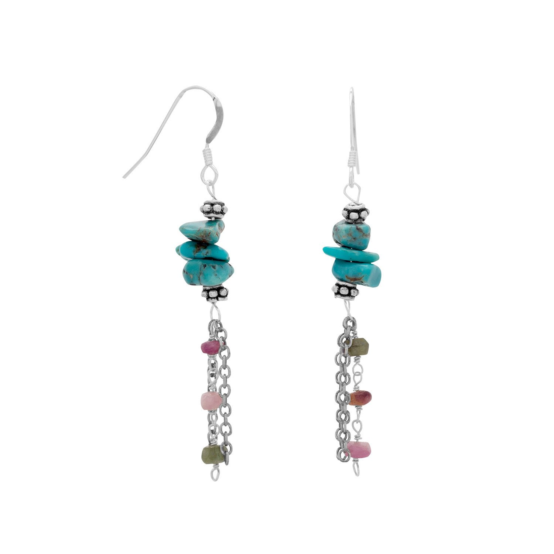 Baila Luna Oxidized Multistrand Drop Earrings