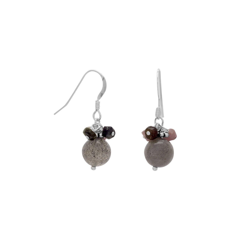 Baila Luna Colorful Tourmaline and Labradorite Bead Earrings