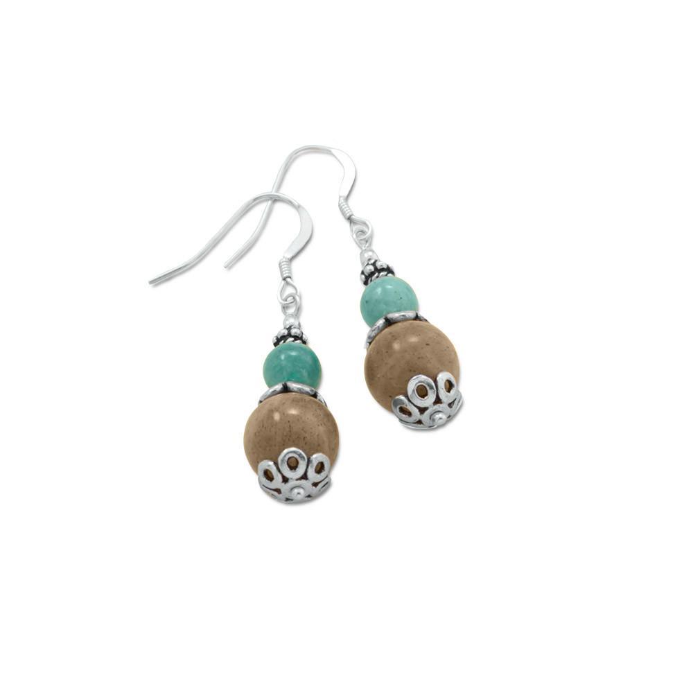 Baila Luna Labradorite Drop Earrings