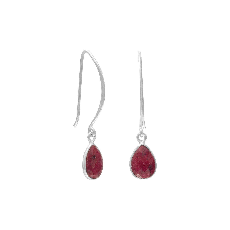 Corundum Drop Wire Earrings
