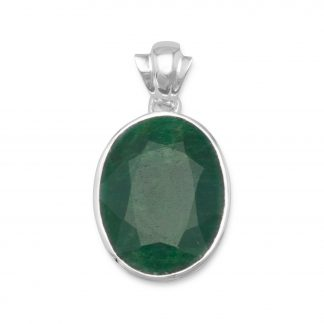 Oval Faceted Beryl Pendant