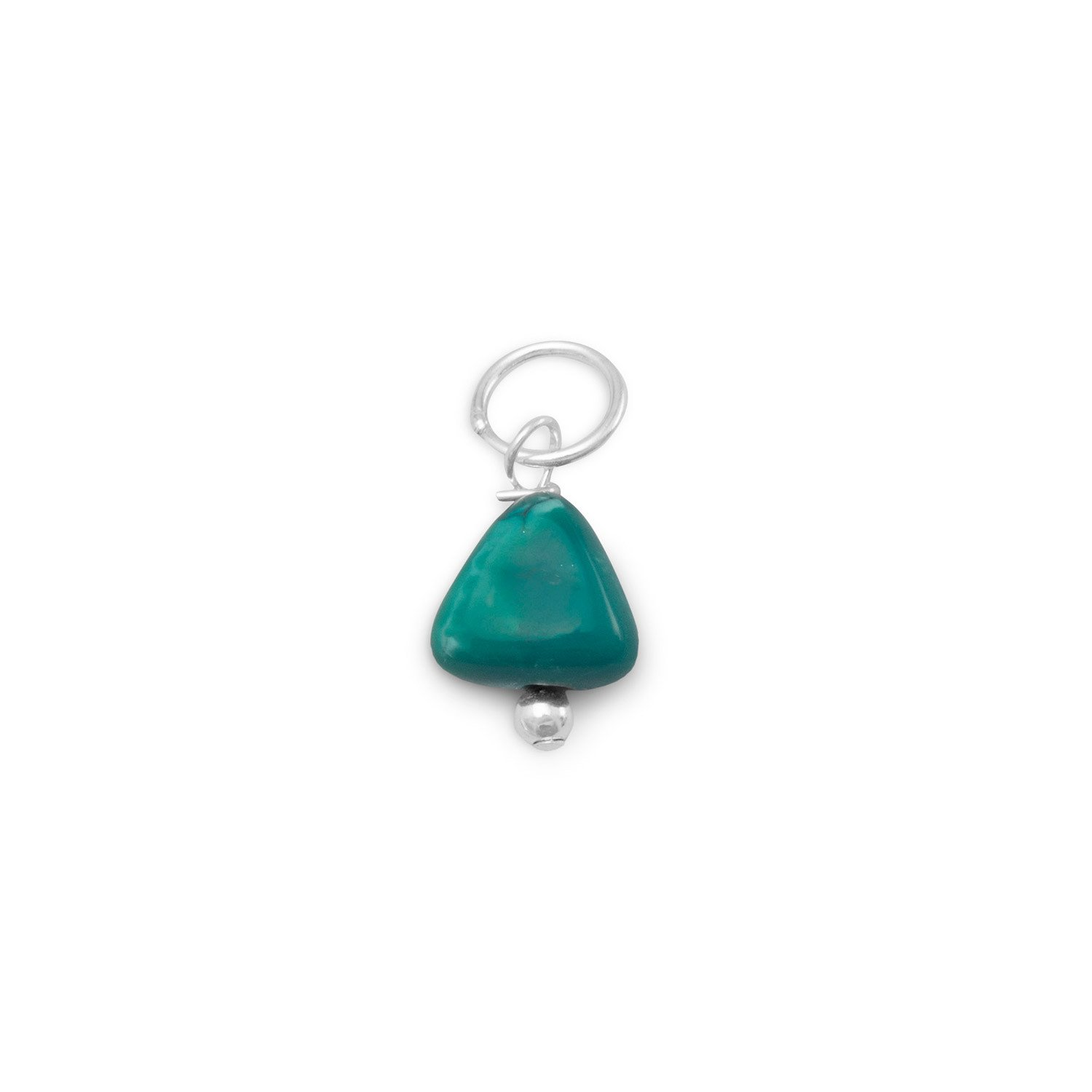 Reconstituted Turquoise Nugget Charm – December Birthstone