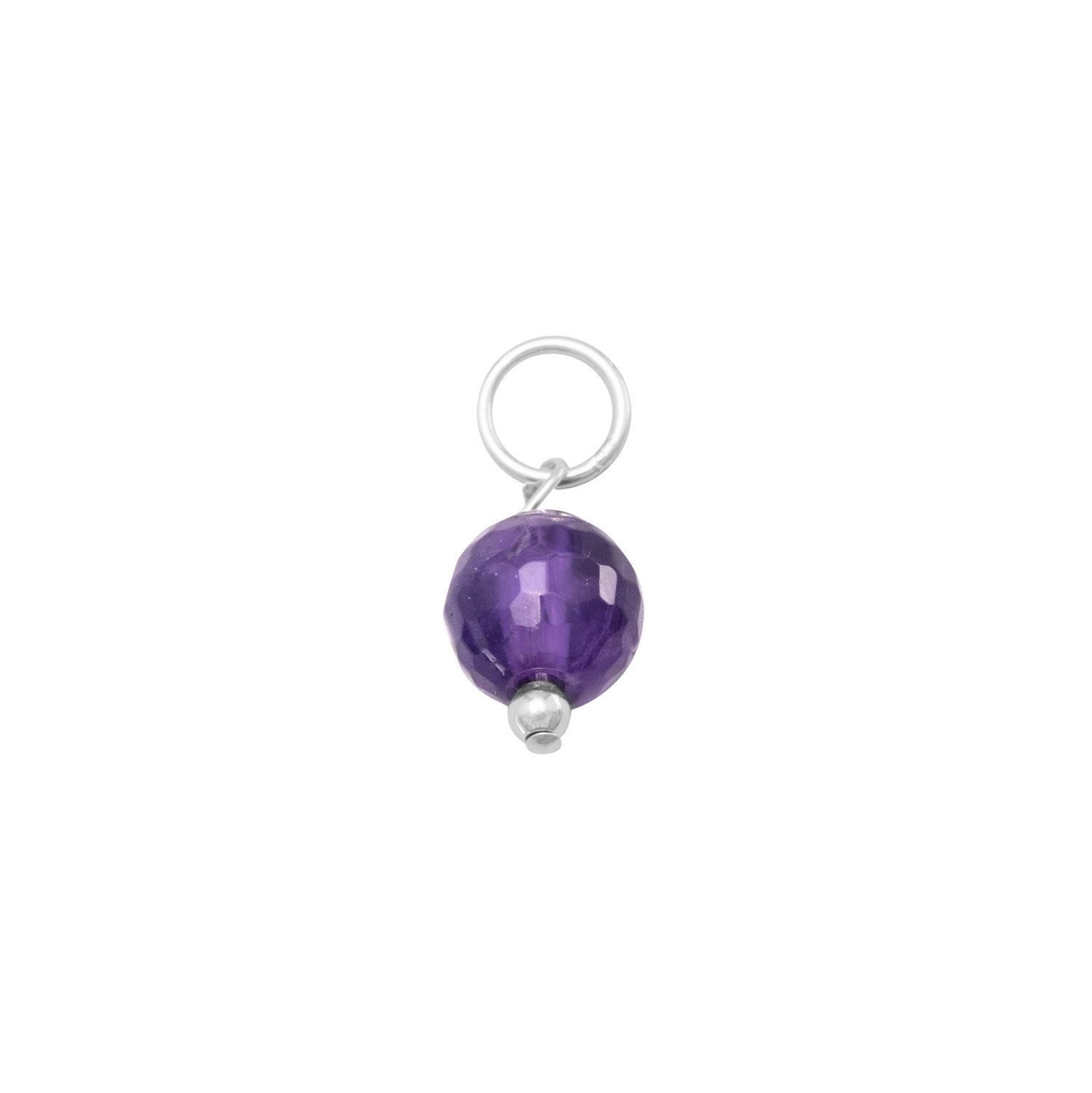 Faceted Amethyst Bead Charm – February Birthstone