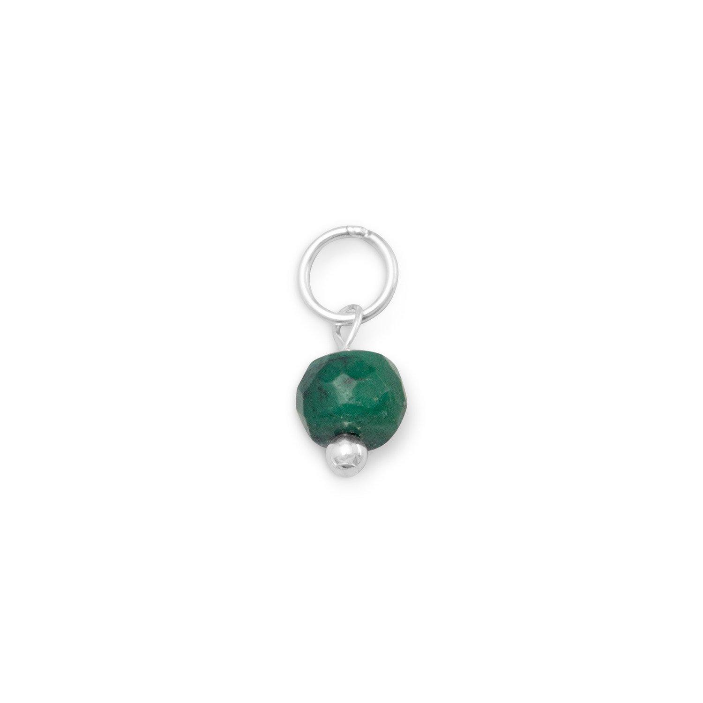 Green Corundum Charm – May Birthstone