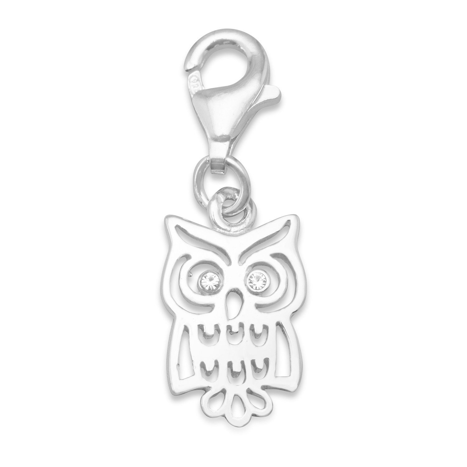 Owl Charm with Lobster Clasp