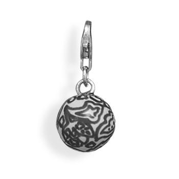 Paisley Bead Charm with Lobster Clasp