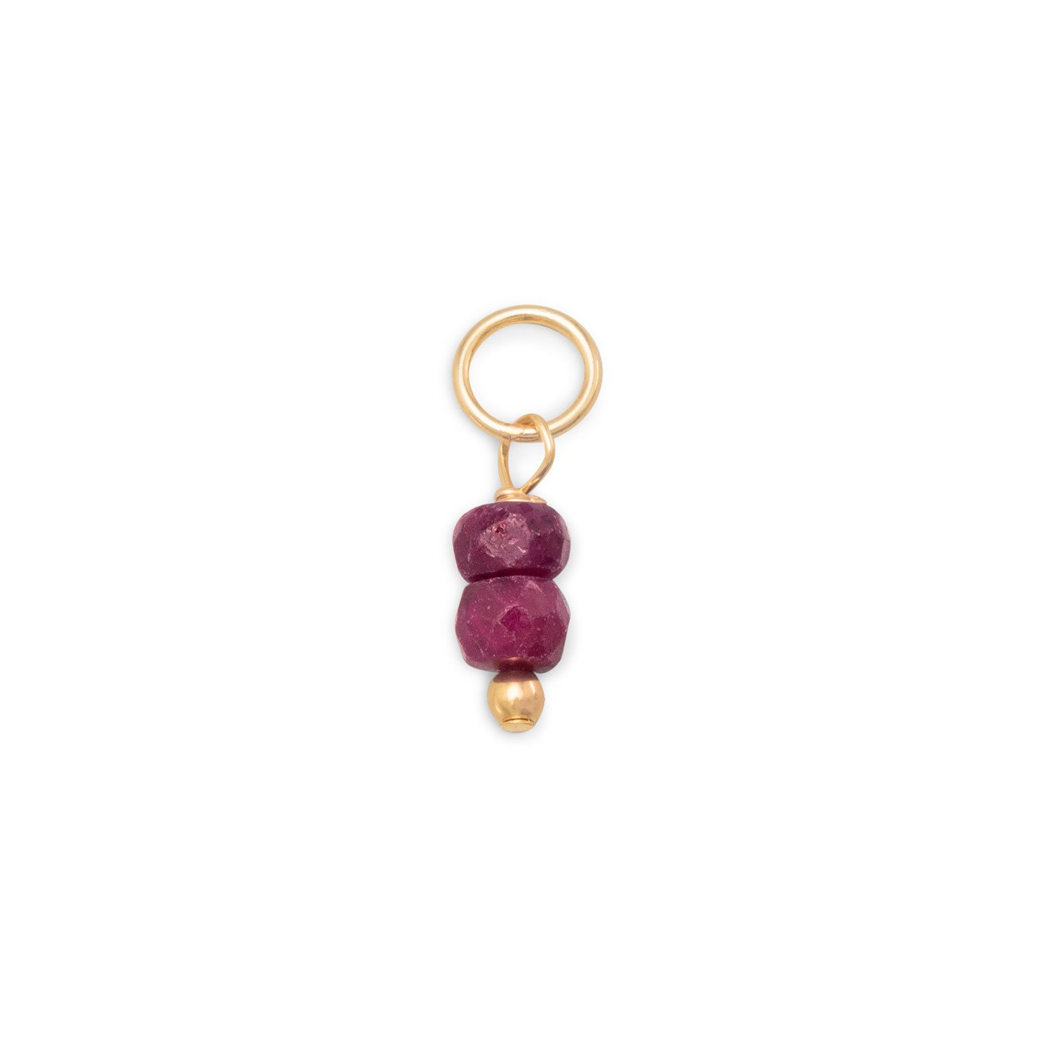 14/20 Gold Filled Corundum Rondell Charm – July Birthstone