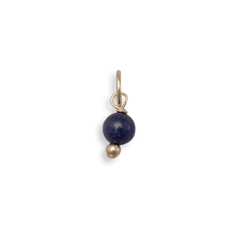14/20 Gold Filled Corundum Bead Charm – September Birthstone