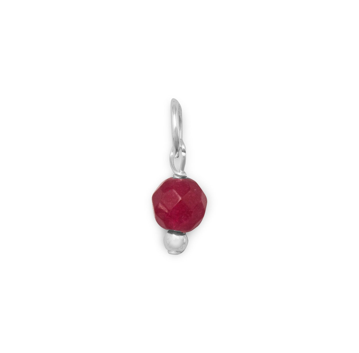 Corundum Bead Gem Drop