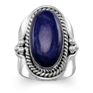 Oxidized Lapis Ring