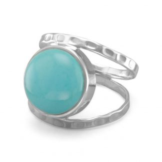 Reconstituted Turquoise Open Band Style Ring