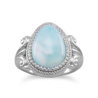Pear Shape Larimar Ring