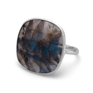 Soft Square Labradorite Ring