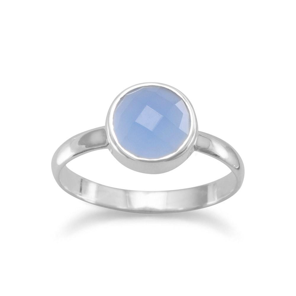 Faceted Chalcedony Stackable Ring