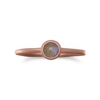 14 Karat Rose Gold Plated Moonstone Ring
