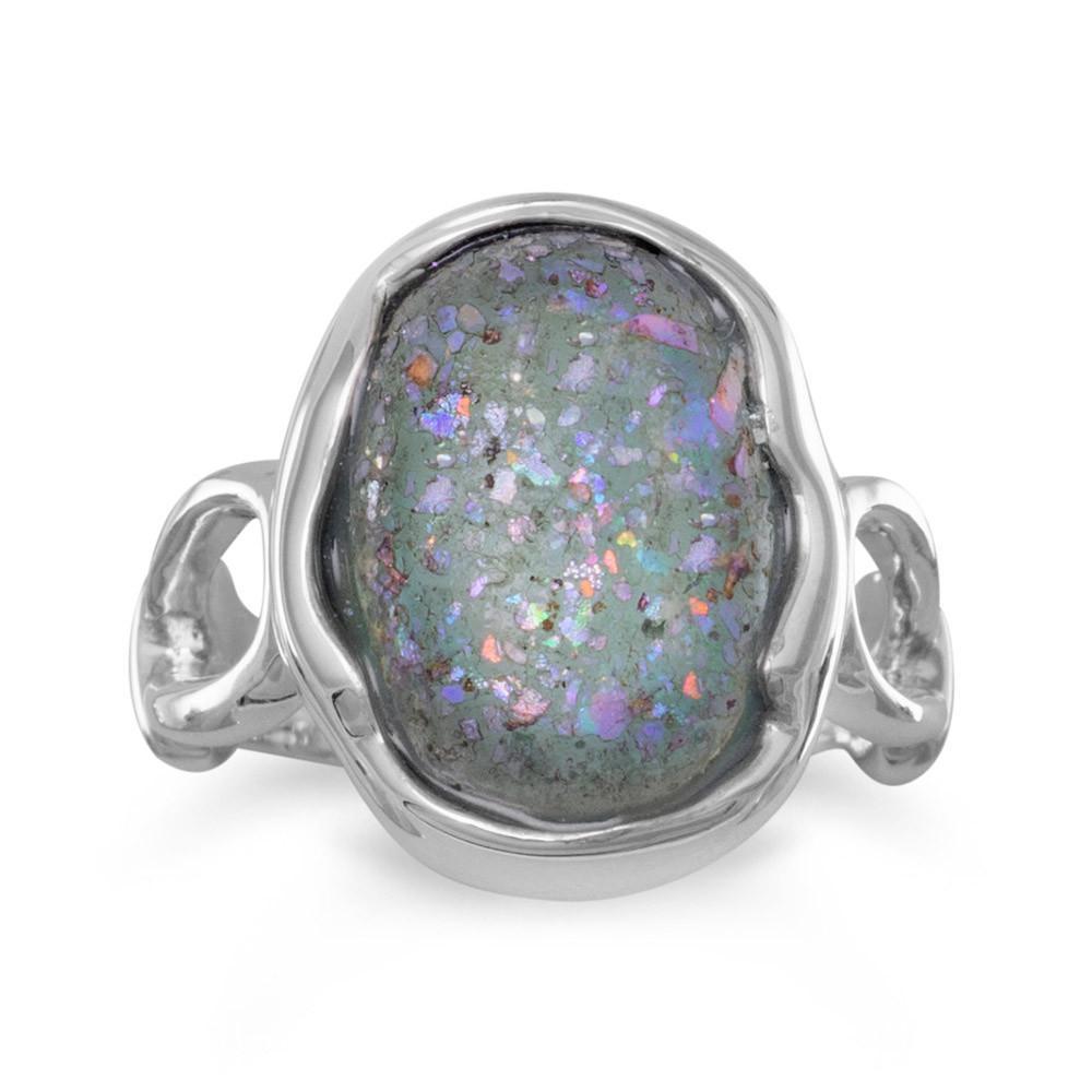 Oval Roman Glass Ring