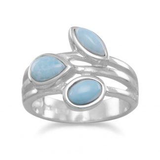 Multishape Larimar Ring