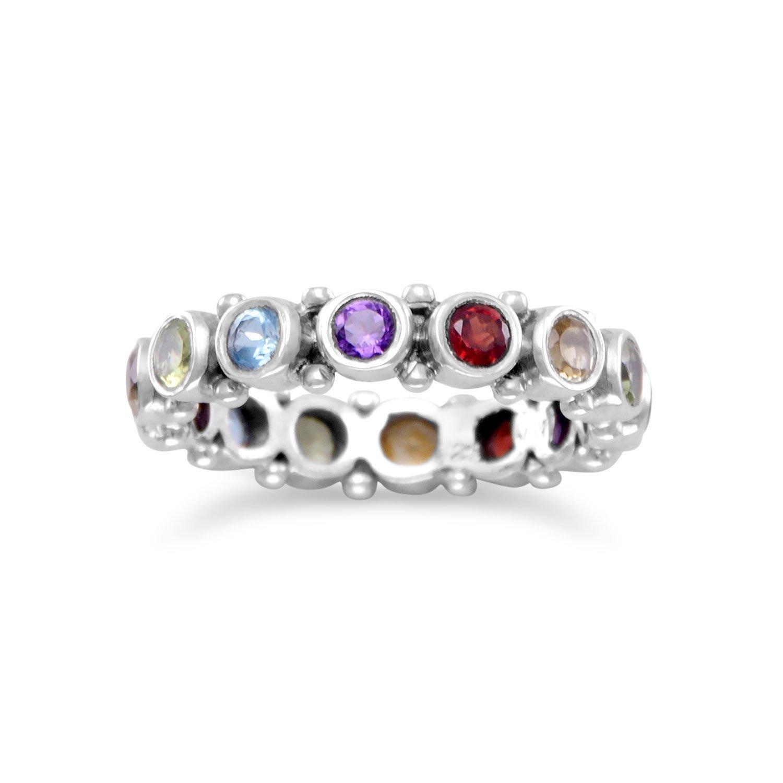 Oxidized Multistone Eternity Ring