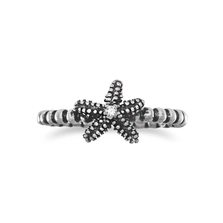 Oxidized Starfish Ring